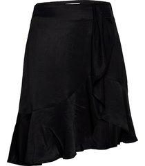 frigg ruffle skirt knälång kjol svart designers, remix
