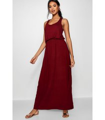 racer back maxi dress, burgundy