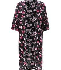 kimono estampado color negro, talla 12