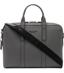 coach metropolitan briefcase - grey