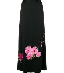 a.n.g.e.l.o. vintage cult 1960's floral embellished skirt - black