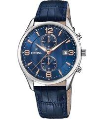 reloj f6855/6 retro azul petróleo festina
