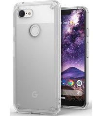 estuche protector ringke fusion google pixel 3 xl - trnasparente