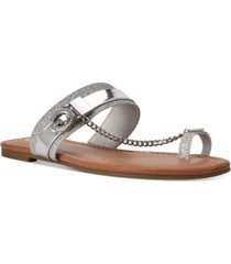 gbg los angeles loona toe thong flat sandals women's shoes