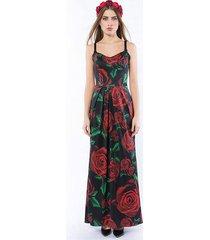 królowa róża maxi / black - suknia wieczorowa