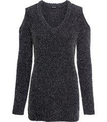 maglione in ciniglia con lurex (nero) - bodyflirt