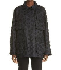 women's cecilie bahnsen x mackintosh hinda jacket, size medium/large - black