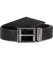 robert graham men's sequential reversible leather belt - black brown - size 32