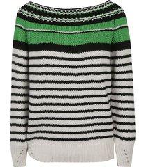 ermanno scervino ribbed stripe sweater