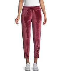velvet stretch pants