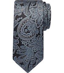 joseph abboud gray paisley narrow tie