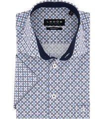korte mouwen ledub overhemd donkerblauw