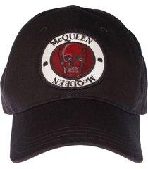 alexander mcqueen mcqueen badge cap