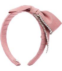 gigi burris millinery stella crystal-embellished headband - pink