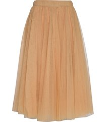 midi tulle skirt knälång kjol orange cathrine hammel