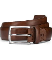 men's allen edmonds glass avenue leather belt