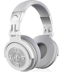 audifonos, bt28 ató con alambre los auriculares estéreos del auricular de bluetooth para el teléfono se divierte los auriculares atados con alambre 3.5mm del receptor de cabeza de bluetooth 4.0 para la pc (blanco)