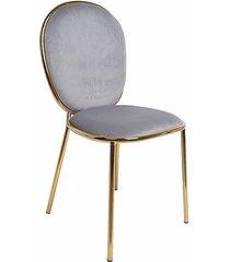 krzesło welurowe mia szare