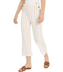derek heart juniors' striped high-rise cropped sailor pants