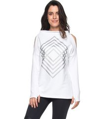 blusa moletim classic - branco p