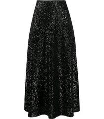 in the mood for love sequin full skirt - black