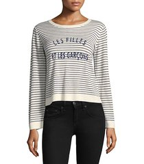 verbina striped crewneck sweater