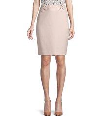 calvin klein women's back-zip skirt - blush creme - size 10