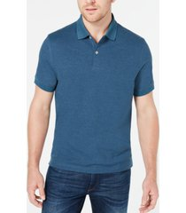 club room men's classic fit performance stretch polo, created for macy's