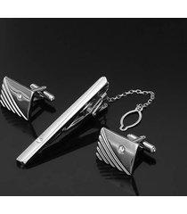 gemelli da uomo diamond tie clip gemelli argento dorato geometria modello gemello