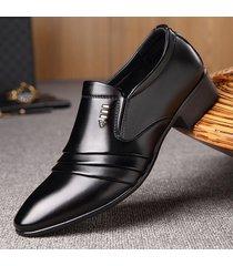 cuero zapatos de trabajo formales hombres zapatos oxford masculino