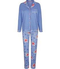 pyjama mona lichtblauw::oudroze::groen