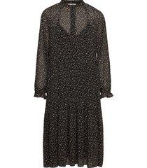 della dress knälång klänning svart second female