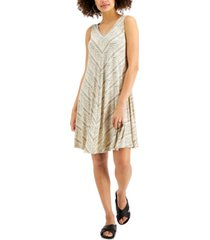 style & co plus size printed crisscross-back dress, created for macy's