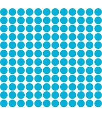 adesivo de parede bolinhas azul celeste 144un - azul - dafiti