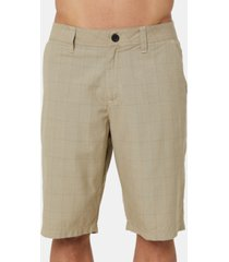 o'neill men's westmont relaxed-fit yarn-dyed plaid shorts