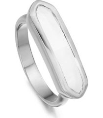 baja white chalcedony ring, sterling silver