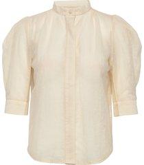 maya mesh soya blouses short-sleeved crème line of oslo