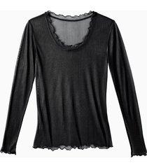 zijden shirt, schwarz 36/38