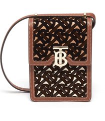 'robyn' monogram print leather crossbody bag