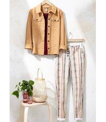 pantaloni boyfriend a righe (beige) - rainbow