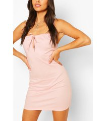 mini-jurk met knoopsluiting in kleine maten, lichtroze