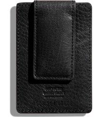 men's shinola money clip card case - black