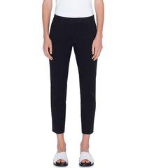 women's akris punto frankie stretch cotton pants, size 16 - black