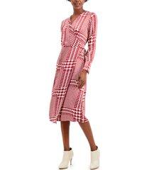 alfani faux wrap midi dress, created for macy's