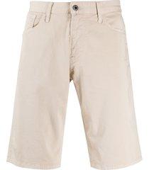 emporio armani denim bermuda shorts - neutrals