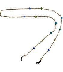 cadena gafas cadena y cristal