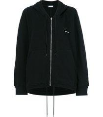 balenciaga cocoon hoodie cardigan - black