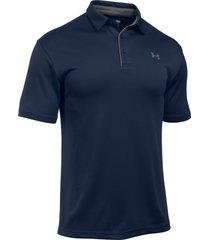 camiseta under armour polo tech - azul oscuro