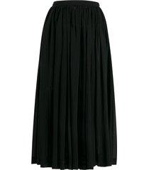 comme des garçons pre-owned 1988 sheer gathered skirt - black