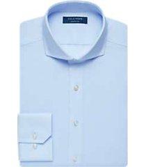 cole haan grand.øs light blue slim fit dress shirt